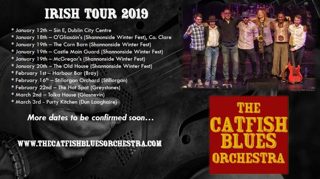 Catfish Irish tour 2019
